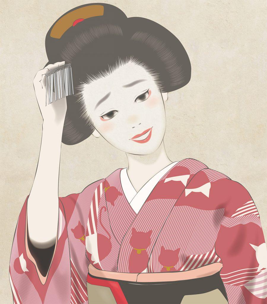舞妓 maiko art 絵画