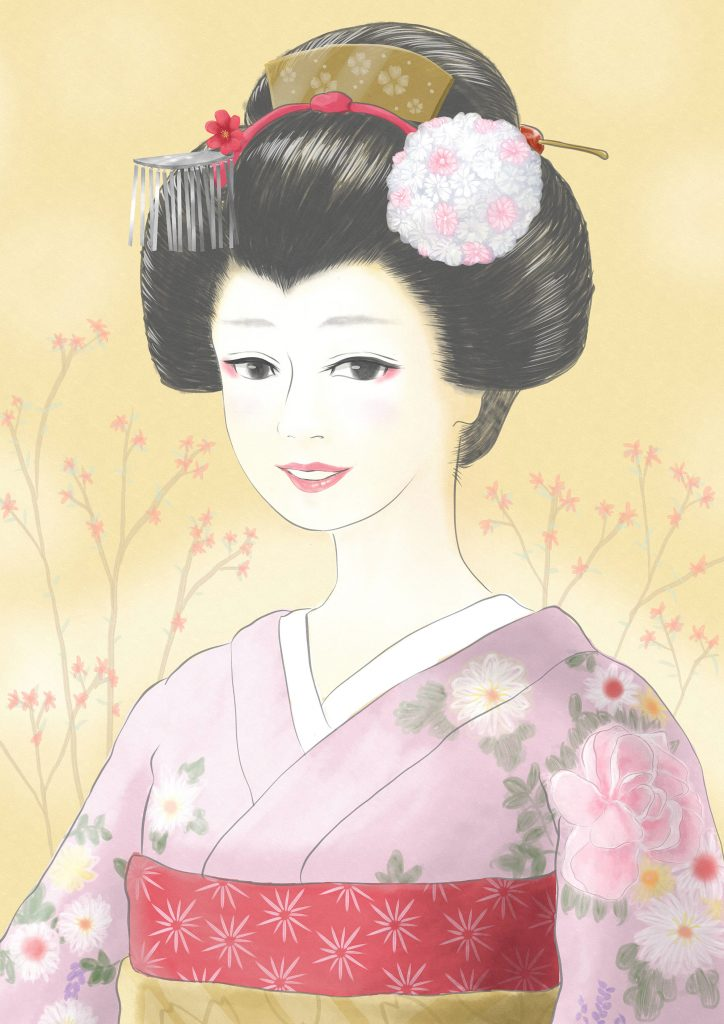 Maiko with a smile. 笑顔の舞妓さん