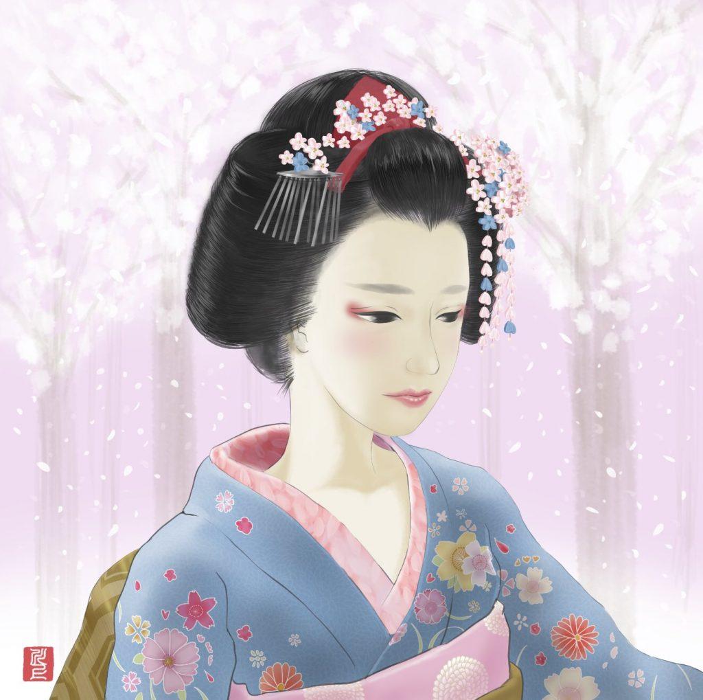 舞妓アート 舞妓 kawakamitetsuya maiko art