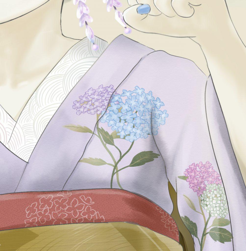 maikoart 芸者 舞妓 舞妓アート kawakamitetsuya 紫陽花 hydrangea 着物